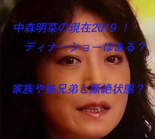 ディナー ショー 2019 中森 明菜